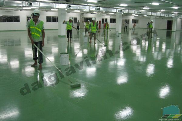 Nhà thầu thi công sơn sàn epoxy