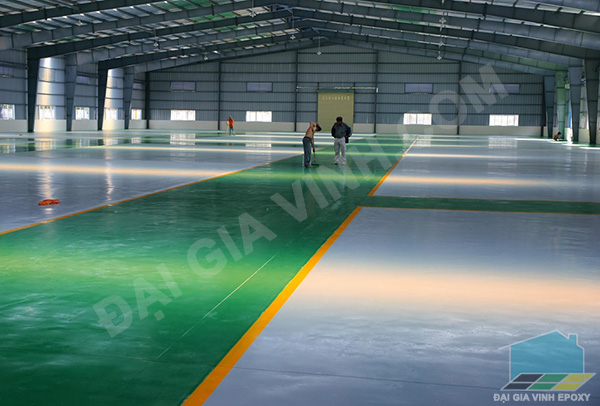 Thi công sơn epoxy nền nhà máy hoá chất
