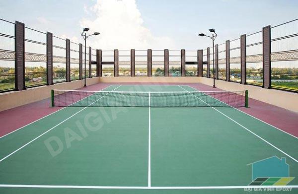 Thi công sơn epoxy cho sân tennis