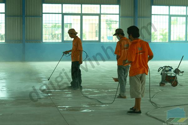 Phương pháp sơn sàn công nghiệp đúng chuẩn