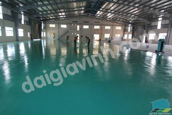 Thi công sơn sàn công nghiệp với sơn epoxy