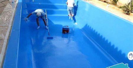 màu sơn sàn epoxy cho bể bơi