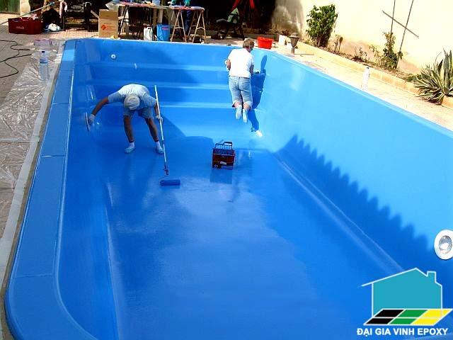 Bí quyết chọn màu sơn sàn epoxy cho bể bơi chuẩn nhất