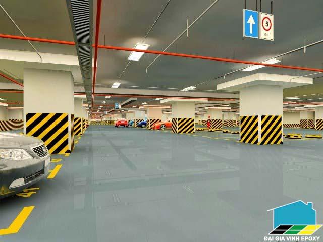 Sơn epoxy sàn nhà giữ xe