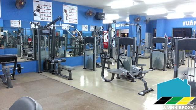 sơn sàn epoxy cho phòng tập Gym