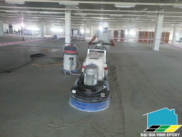 dịch vụ sơn epoxy trên nền bê tông yếu