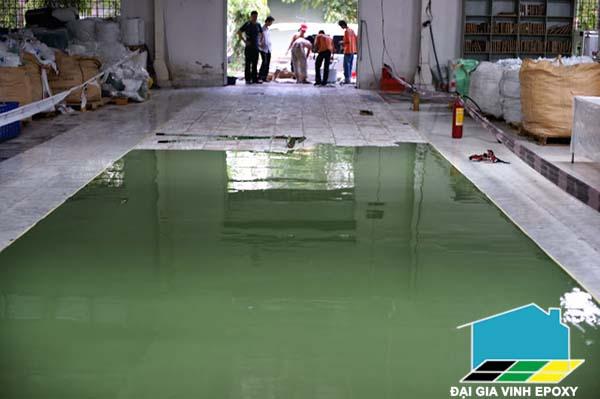 Điều kiện thi công sơn epoxy sàn bê tông