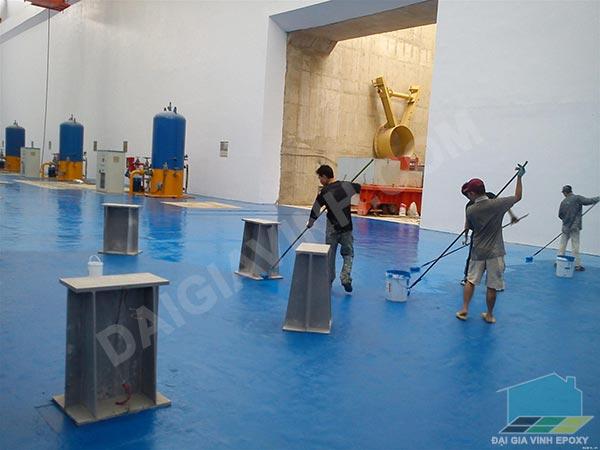 thi công sơn sàn epoxy