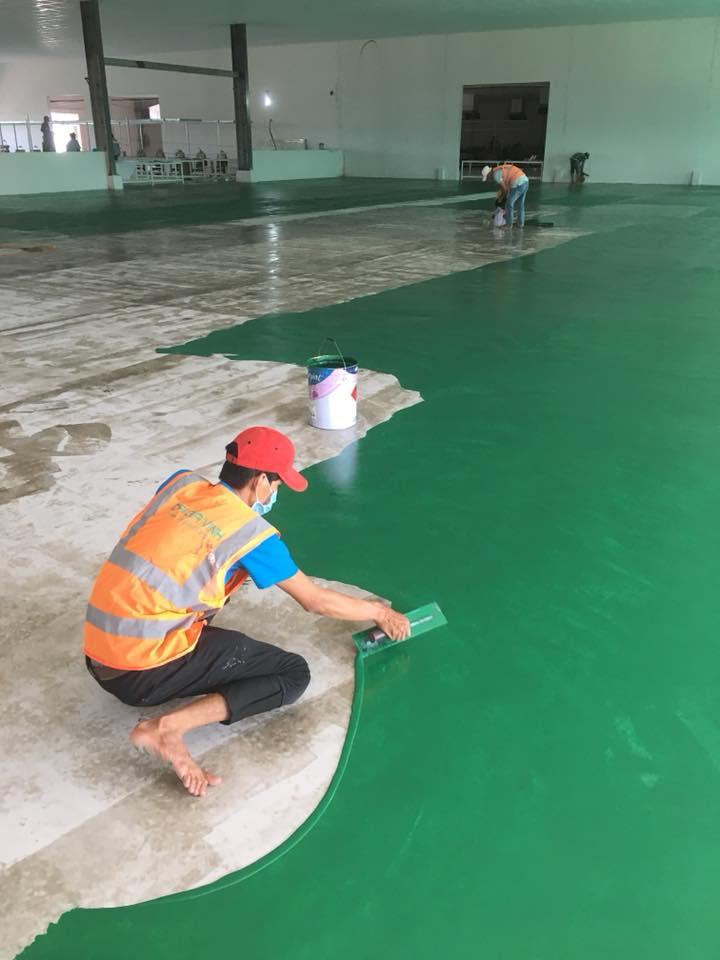 Sơn sàn epoxy, thi công sơn epoxy, Báo giá sơn nền nhà xưởng, báo giá sơn sàn epoxy